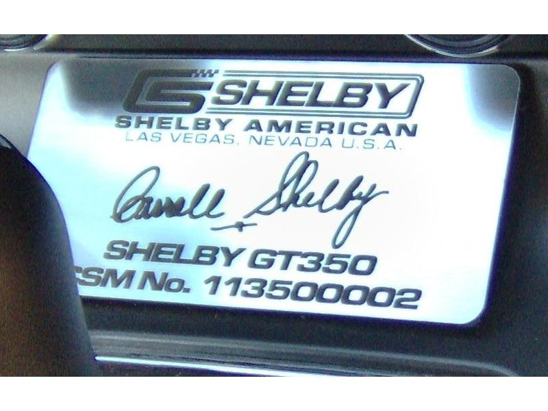 2011 Shelby GT350 for Sale Image 2